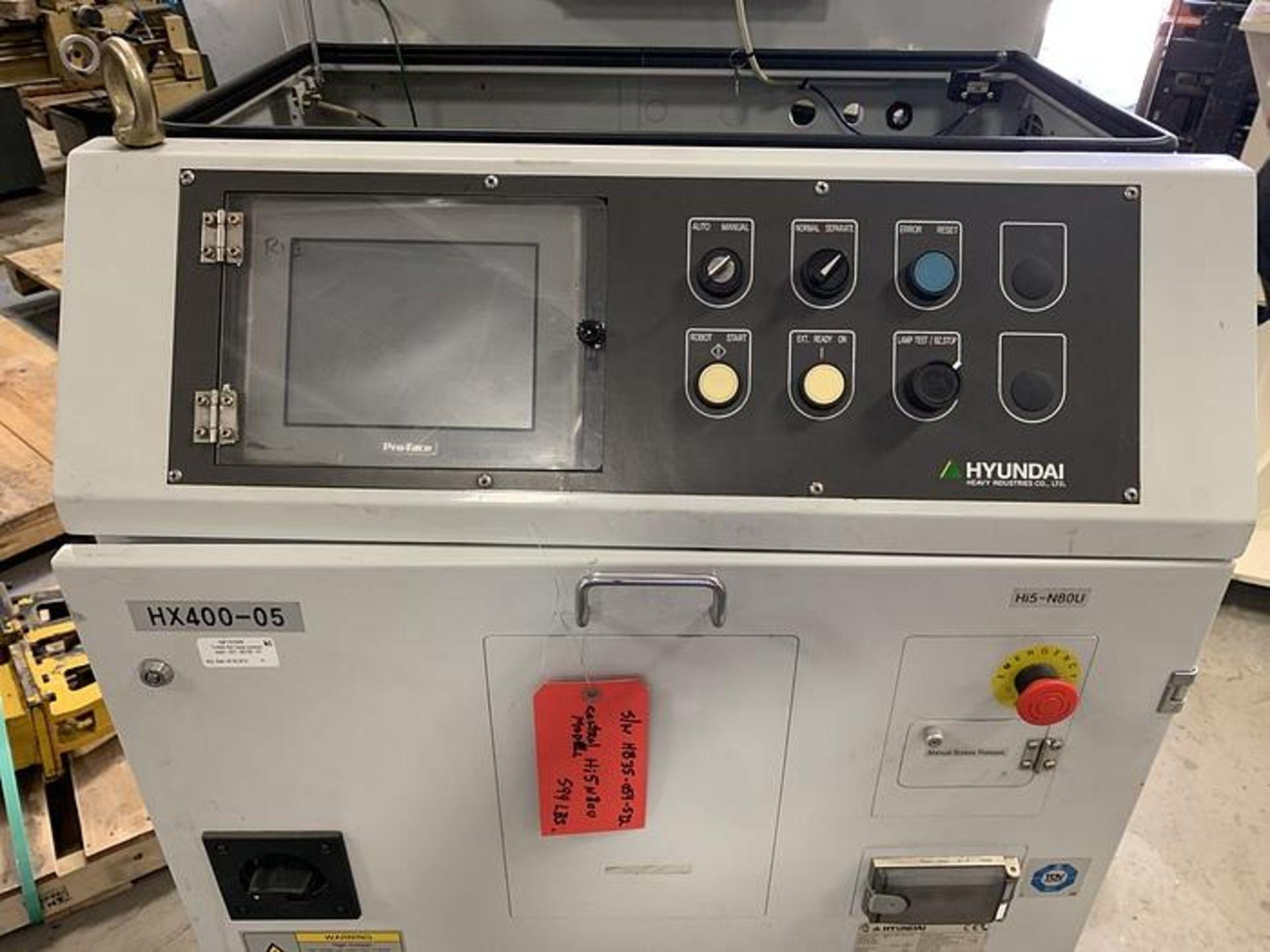 HYUNDIA MODEL HX400 400KG X 2573MM Hi5-N80U CONT. 6 AXIS CNC ROBOT, YEAR 2012, SN HB35-054-572 - Image 9 of 21