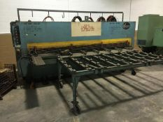 "ATLANTIC 10' X 1/4"" COST CUTTER HYDRAULIC POWER SQUARING SHEAR, SN 80-00-68"