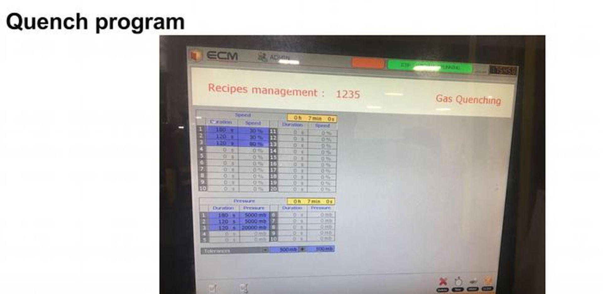 ECM TECHNOLOGIES VACUM CARBURIZING FURNACE, NEW 2013, SN 3100-500 - Image 6 of 50