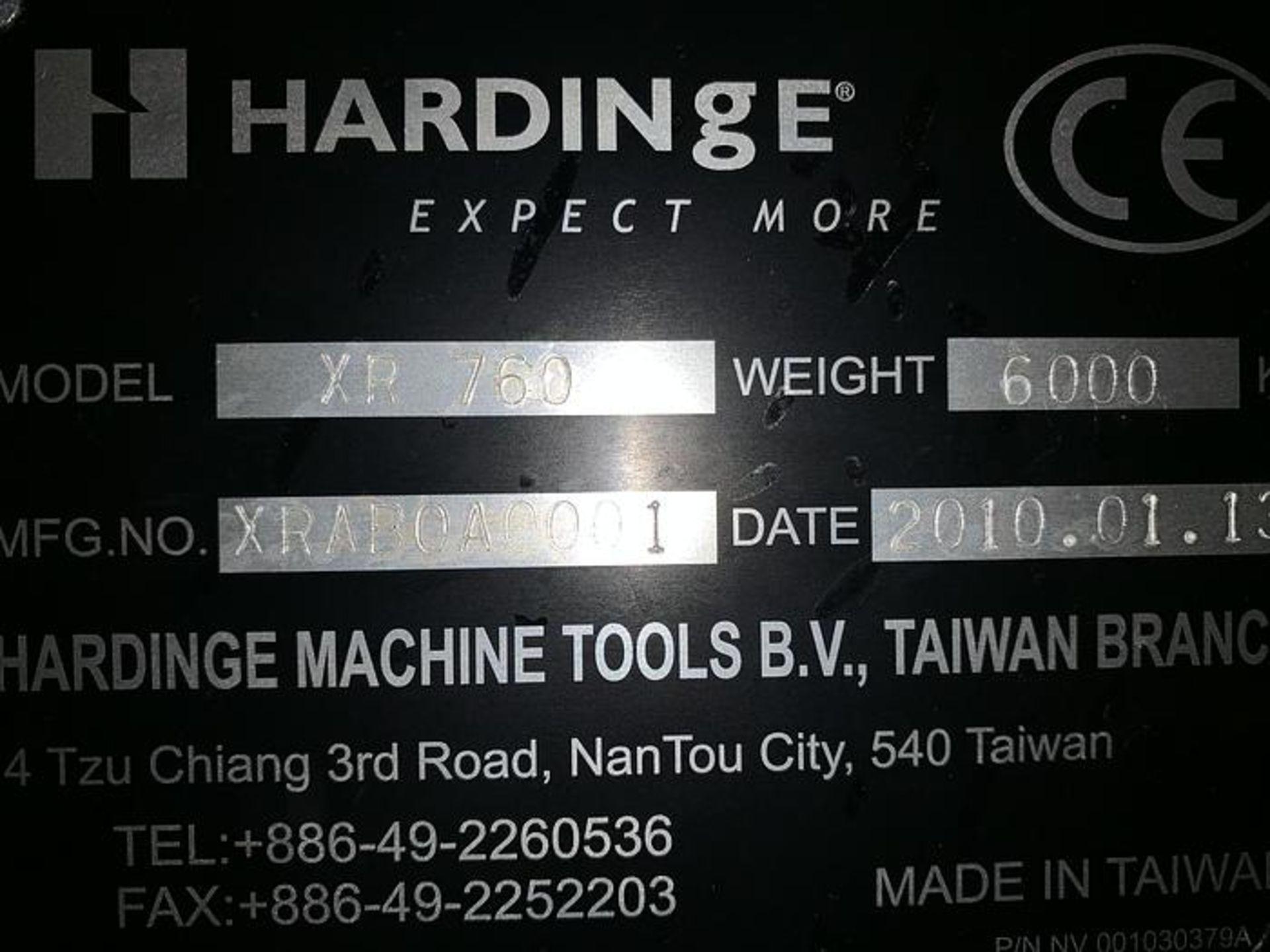 "HARDINGE XR760 CNC VMC PRODUCTION CENTER 30""X24""X24"", YEAR 2010, SN XRAB0A0001 - Image 12 of 12"