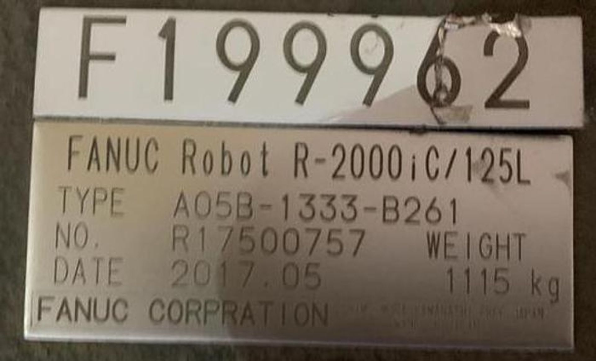 FANUC R2000iC/125L 6 AXIS CNC ROBOT WITH R30iB CONTROLLER, IR VISION, CABLES & REACH - Image 13 of 17