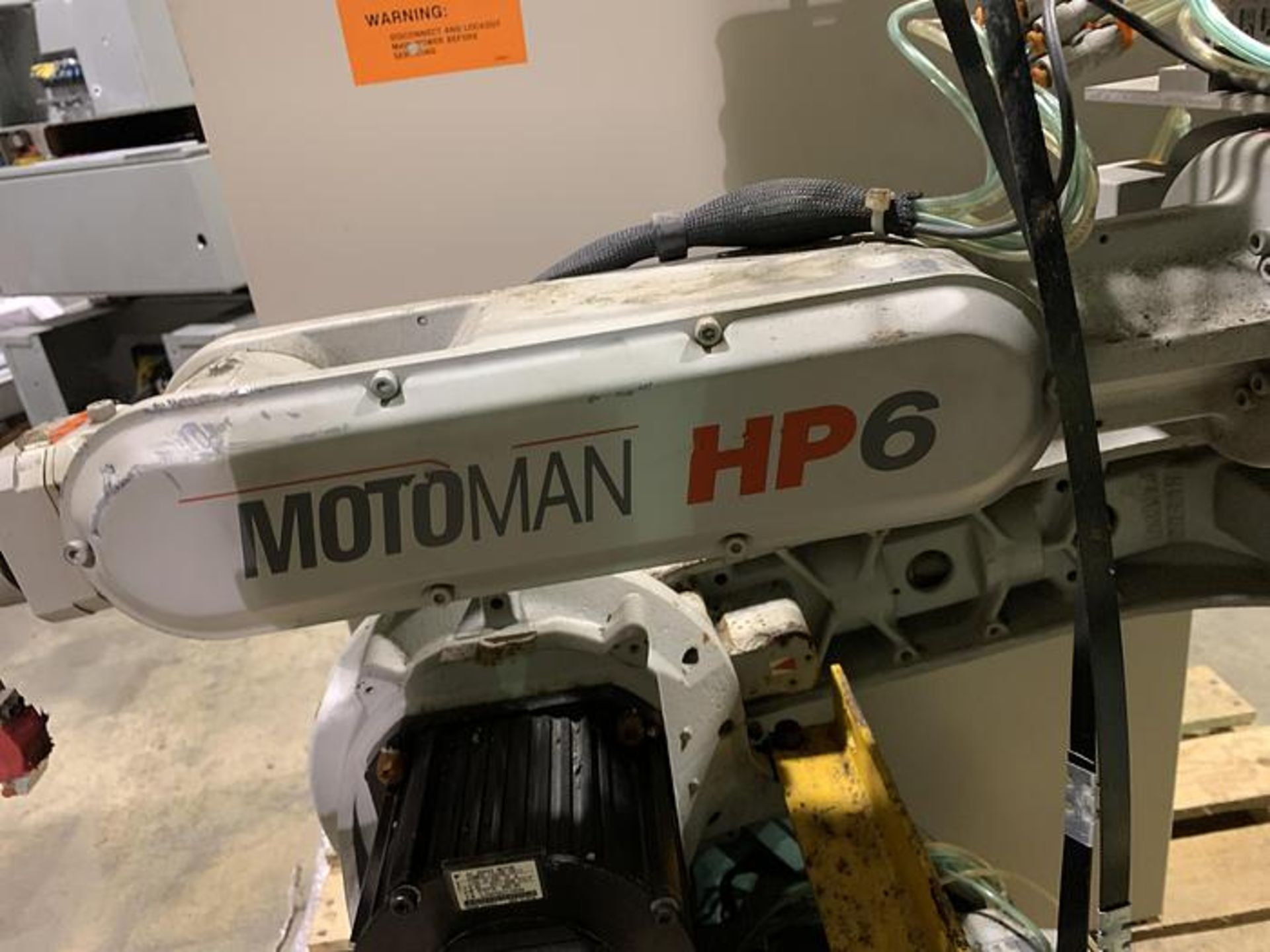 MOTOMAN ROBOT HP6 6KG X 1378 MM REACH NX100 CONTROLLER, CABLES & TEACH, SN S4M230-1-6, YEAR 04/2005 - Image 3 of 3