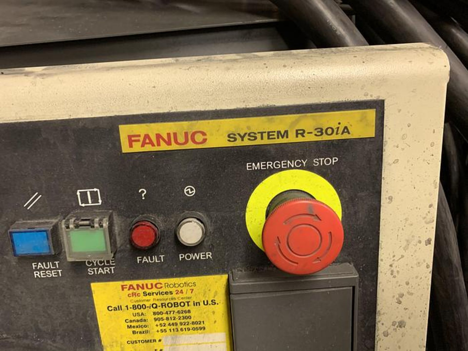 FANUC M900iA/350 6 AXIS ROBOT WITH R30iA CONTROLLER MACHINE, CABLES & TEACH SN F111634, YEAR 2011 - Image 8 of 13