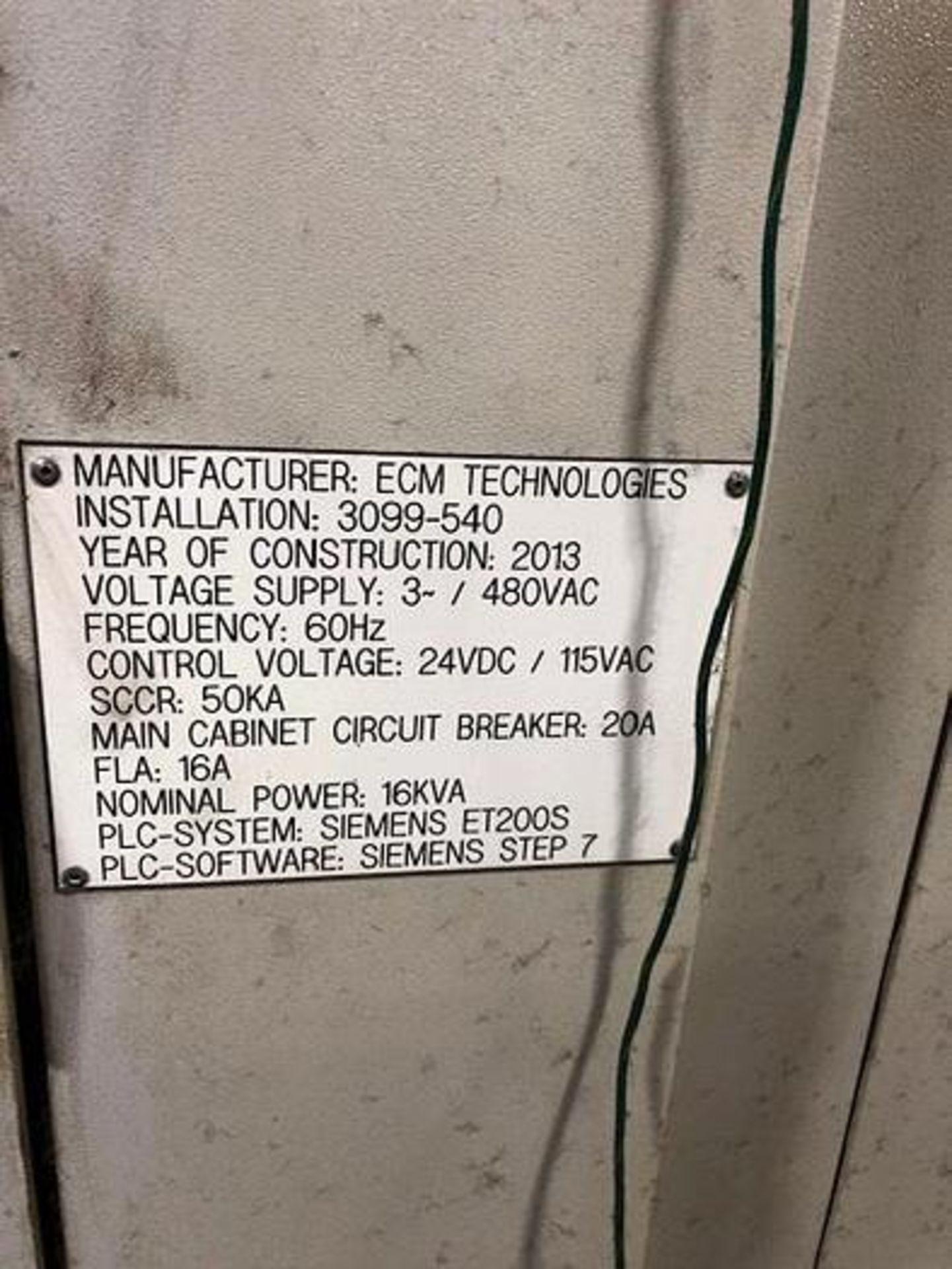 ECM TECHNOLOGIES VACUM CARBURIZING FURNACE, NEW 2013, SN 3100-500 - Image 31 of 50