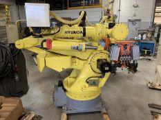 HYUNDIA MODEL HX400 400KG X 2573MM Hi5-N80U CONT. 6 AXIS CNC ROBOT, YEAR 2012, SN HB35-054-572