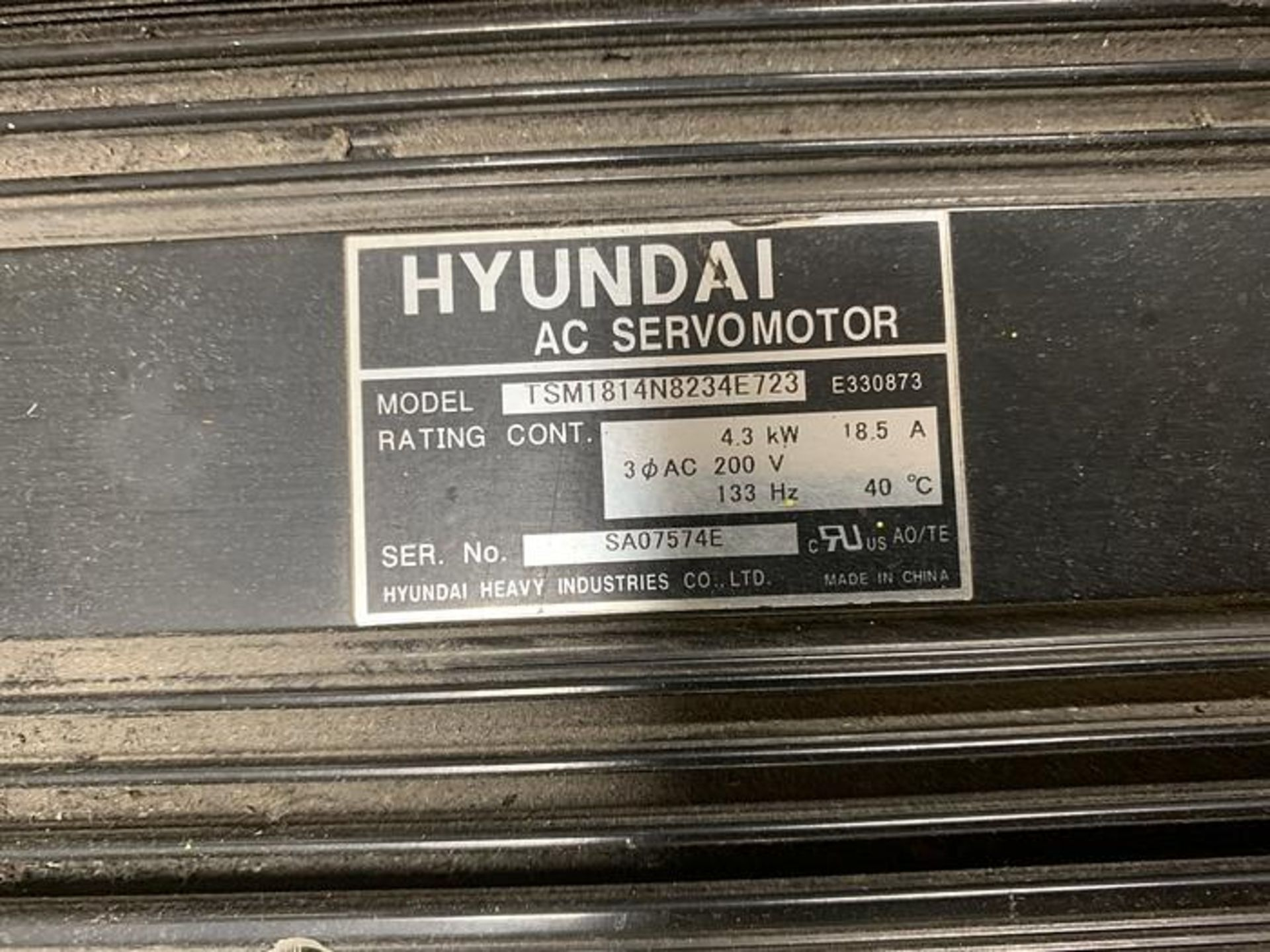 HYUNDIA MODEL HX400 400KG X 2573MM H REACH WITH Hi5-N80U CONTROLLER 6 AXIS CNC ROBOT, YEAR 2012 - Image 10 of 19