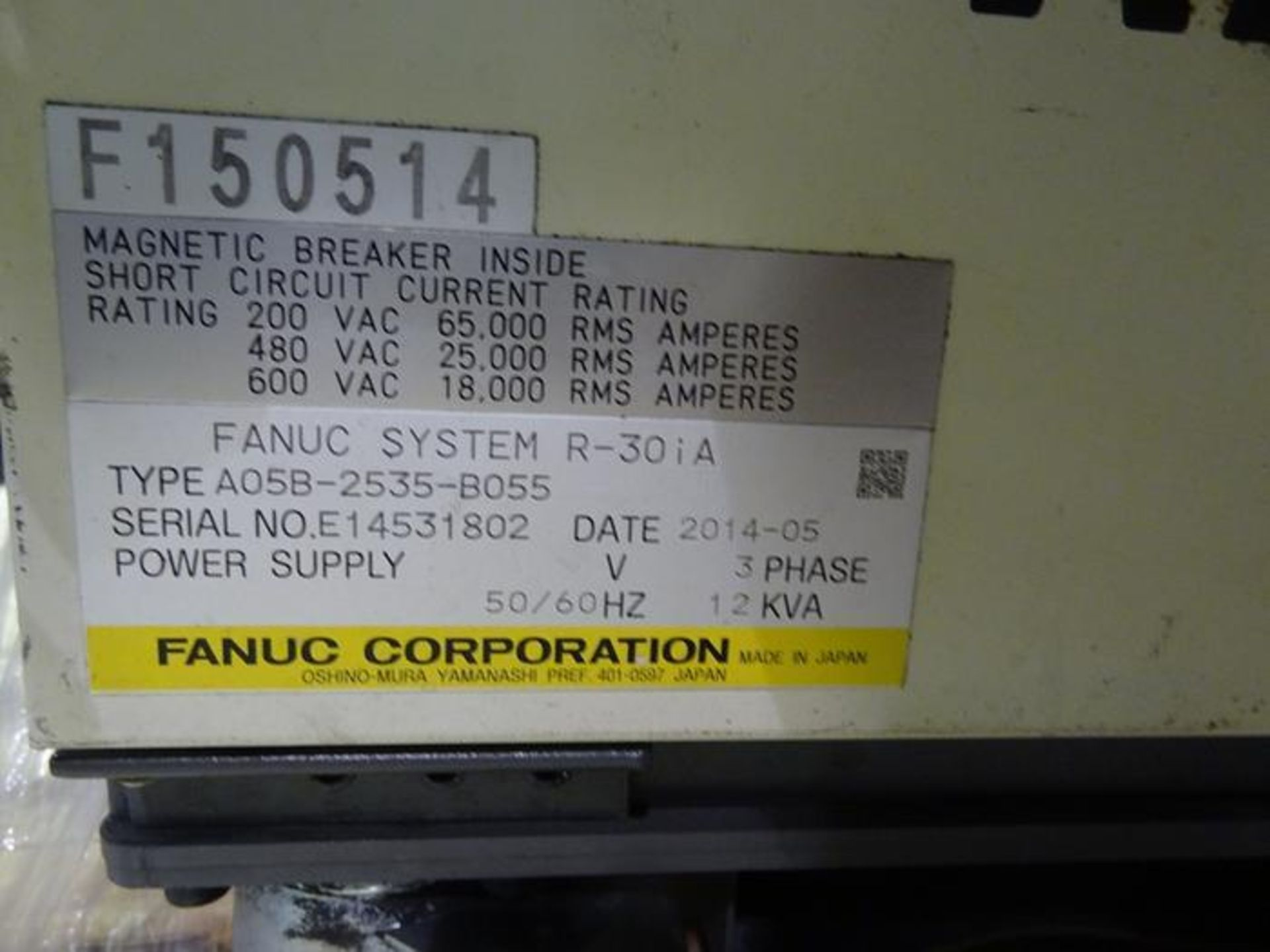 FANUC ROBOT R2000iB/185L WITH R30iA CONTROLLER, TEACH & CABLES, YEAR 2013, SN 132164 - Image 6 of 6