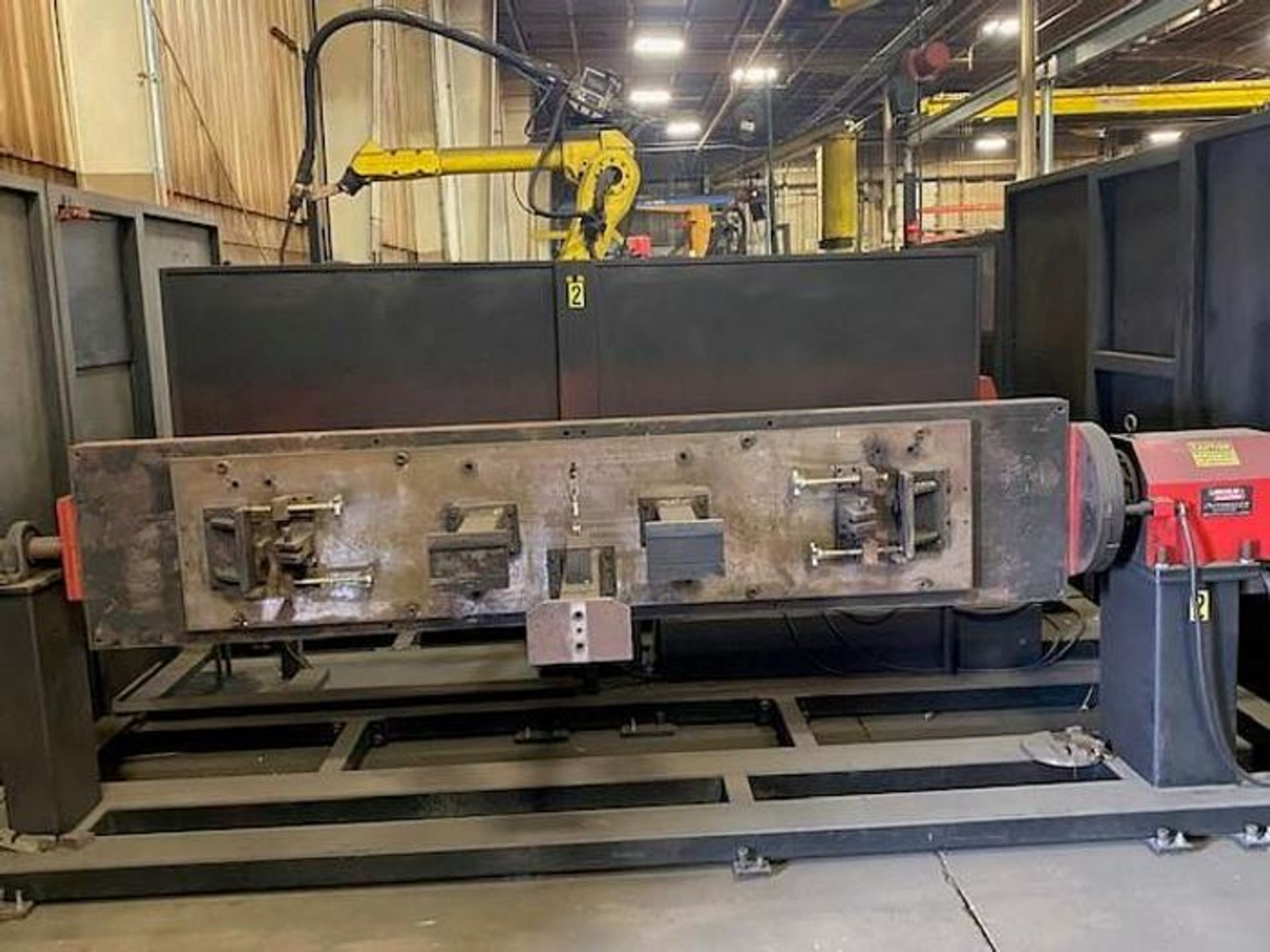 FANUC/LINCOLN DUAL TRUNION WELD CELL, FANUC ROBOT ARCMATE 120iB/10L WITH R-J3iB CONTROL - Image 2 of 11