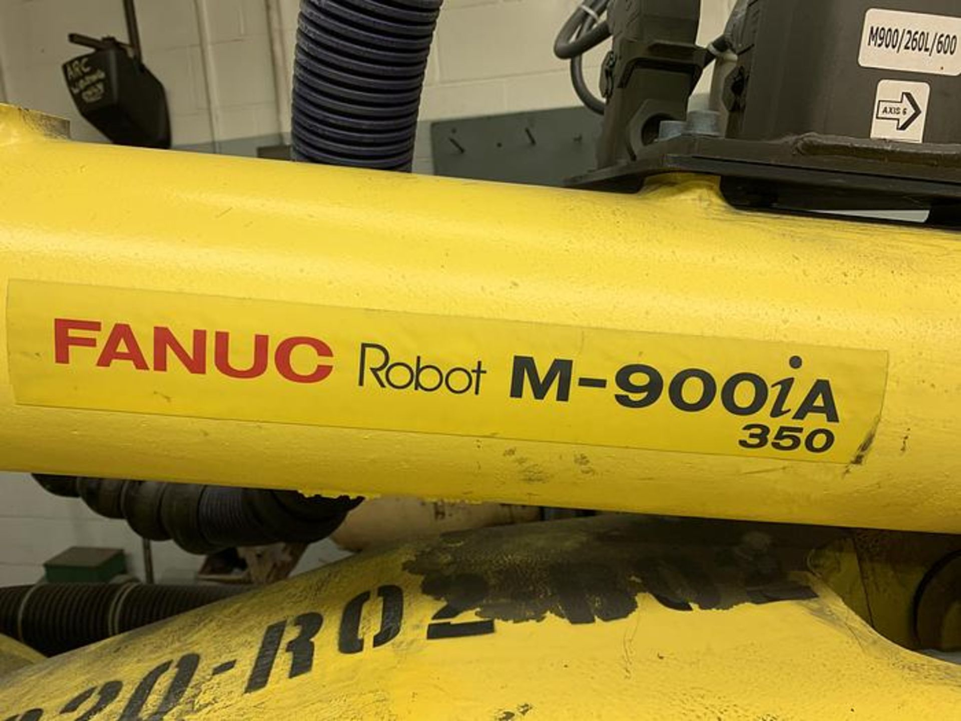 FANUC M900iA/350 6 AXIS ROBOT WITH R30iA CONTROLLER MACHINE, CABLES & TEACH SN F111634, YEAR 2011 - Image 2 of 13