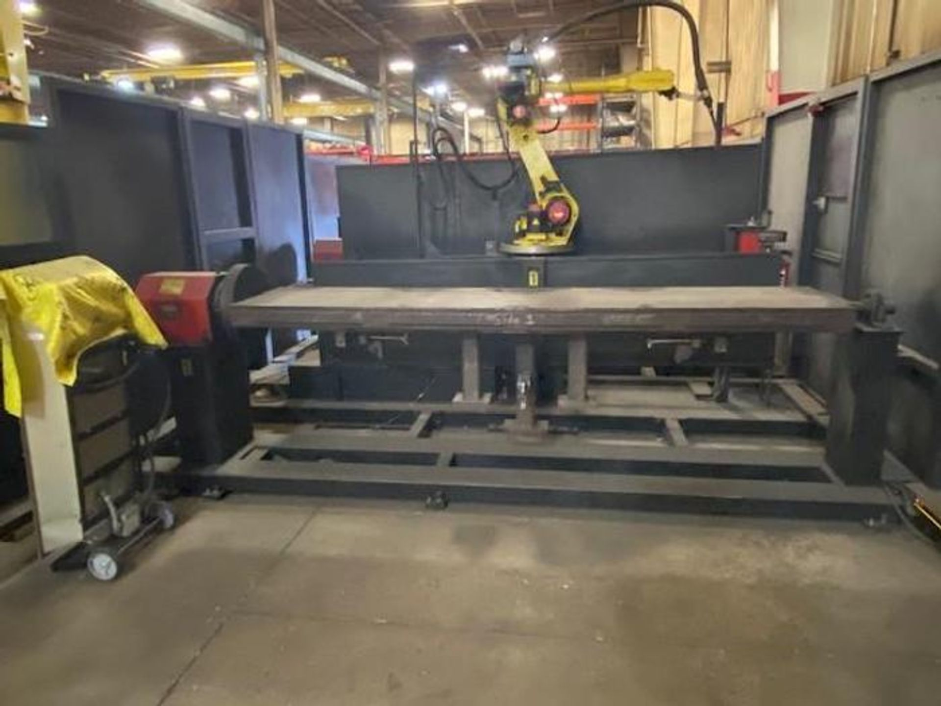FANUC/LINCOLN DUAL TRUNION WELD CELL, FANUC ROBOT ARCMATE 120iB/10L WITH R-J3iB CONTROL