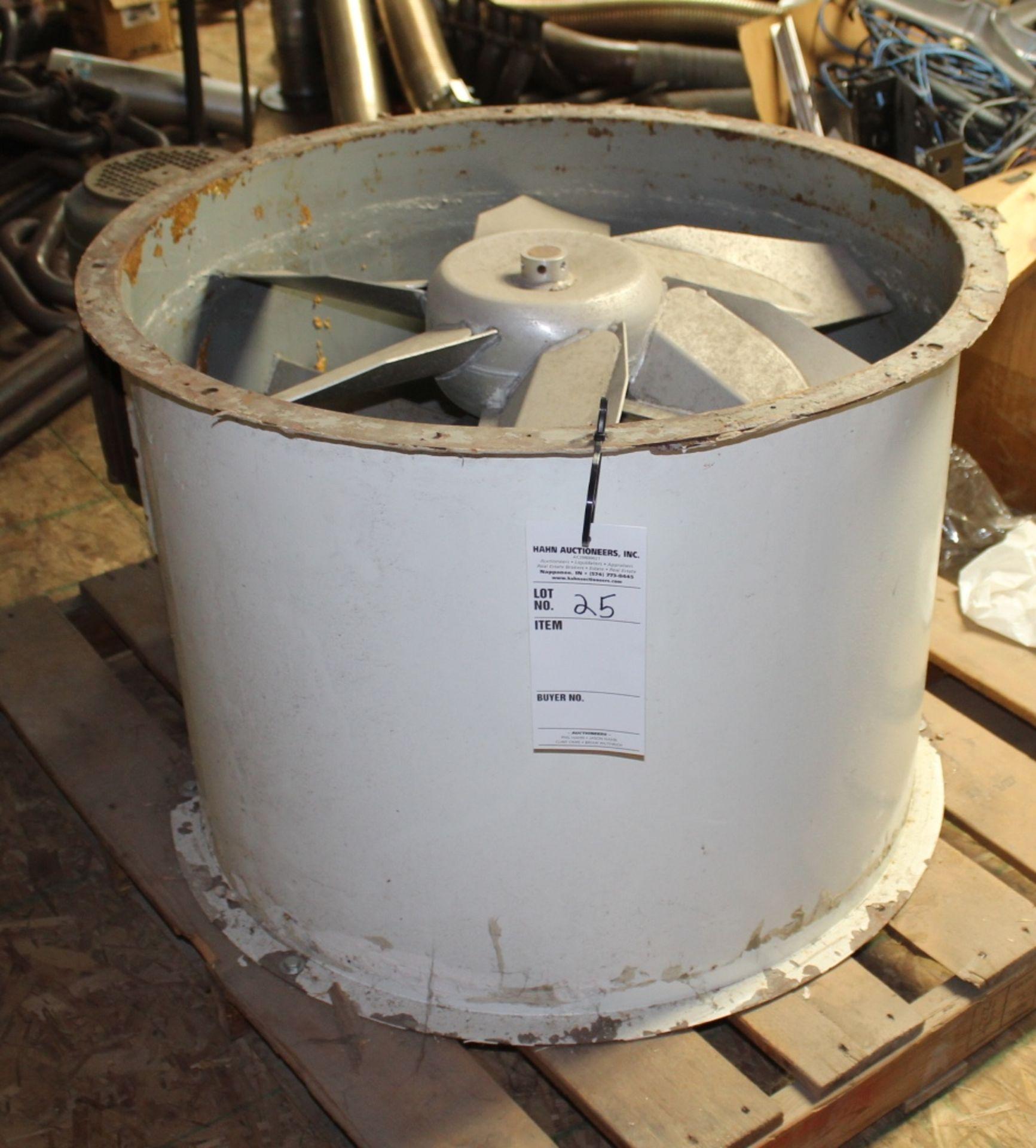 """Lot 25 - 30"""" Diameter Belt Drive Tubeaxial Fan model 3C412B"""