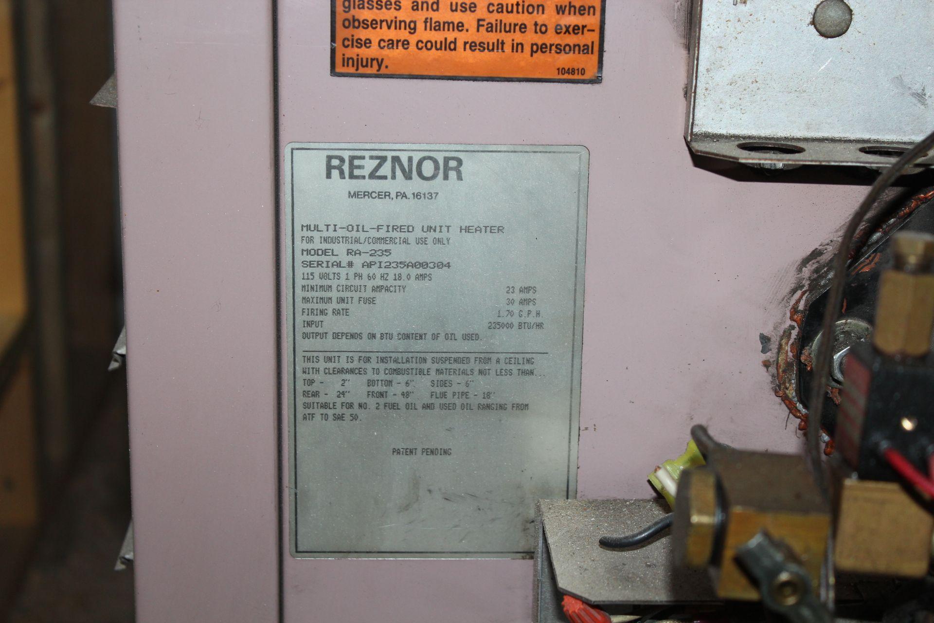 Lot 24 - Reznor Oil Heater Model RA-235