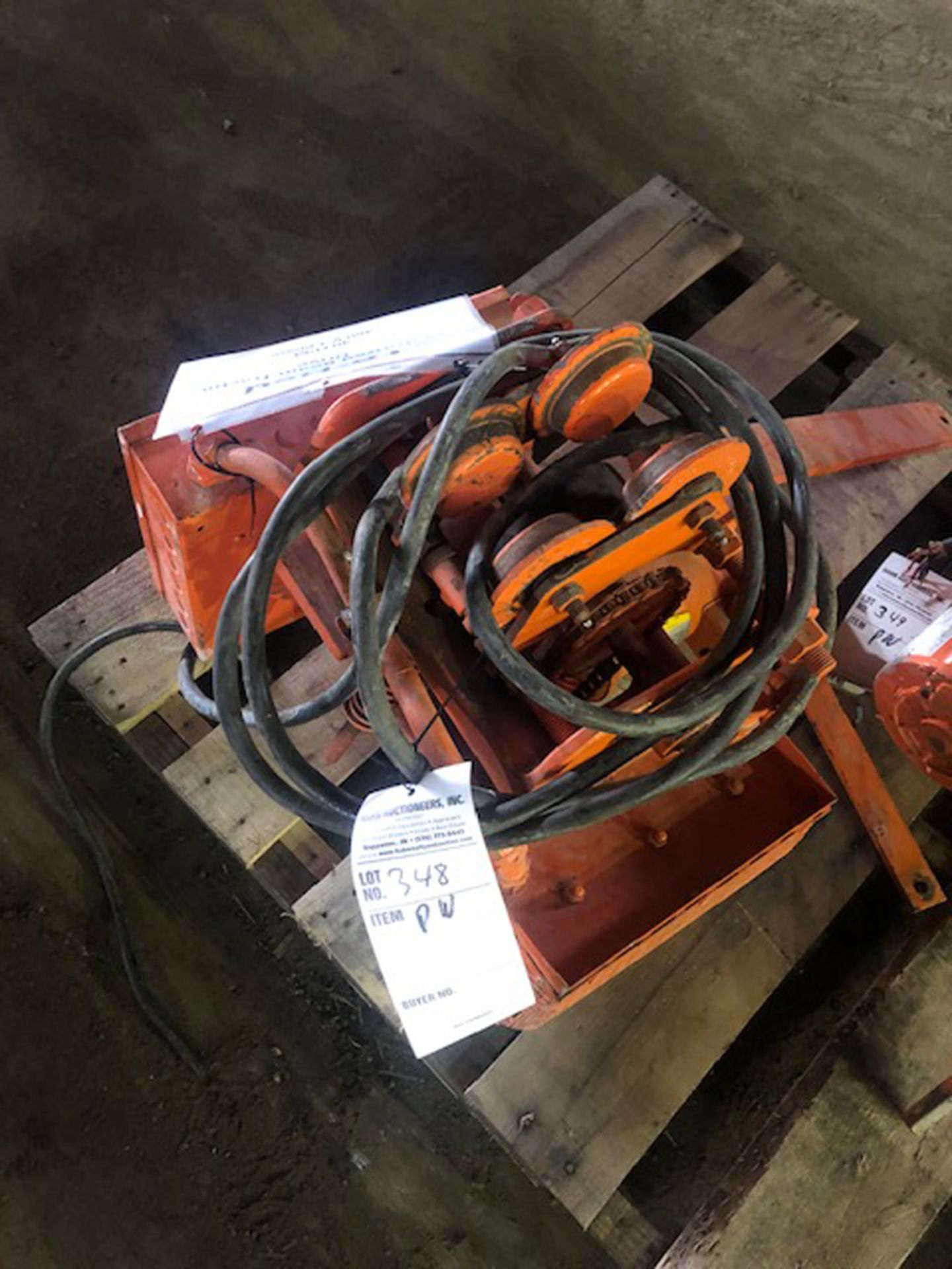 Lot 348 - lo-hed motorized beam, tractor drive, 40' pm, 460- 3 ph