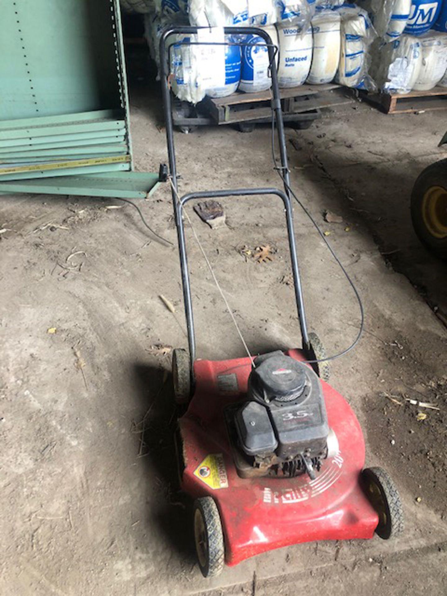 "Lot 286 - Rally 20"" gas powered push mower"