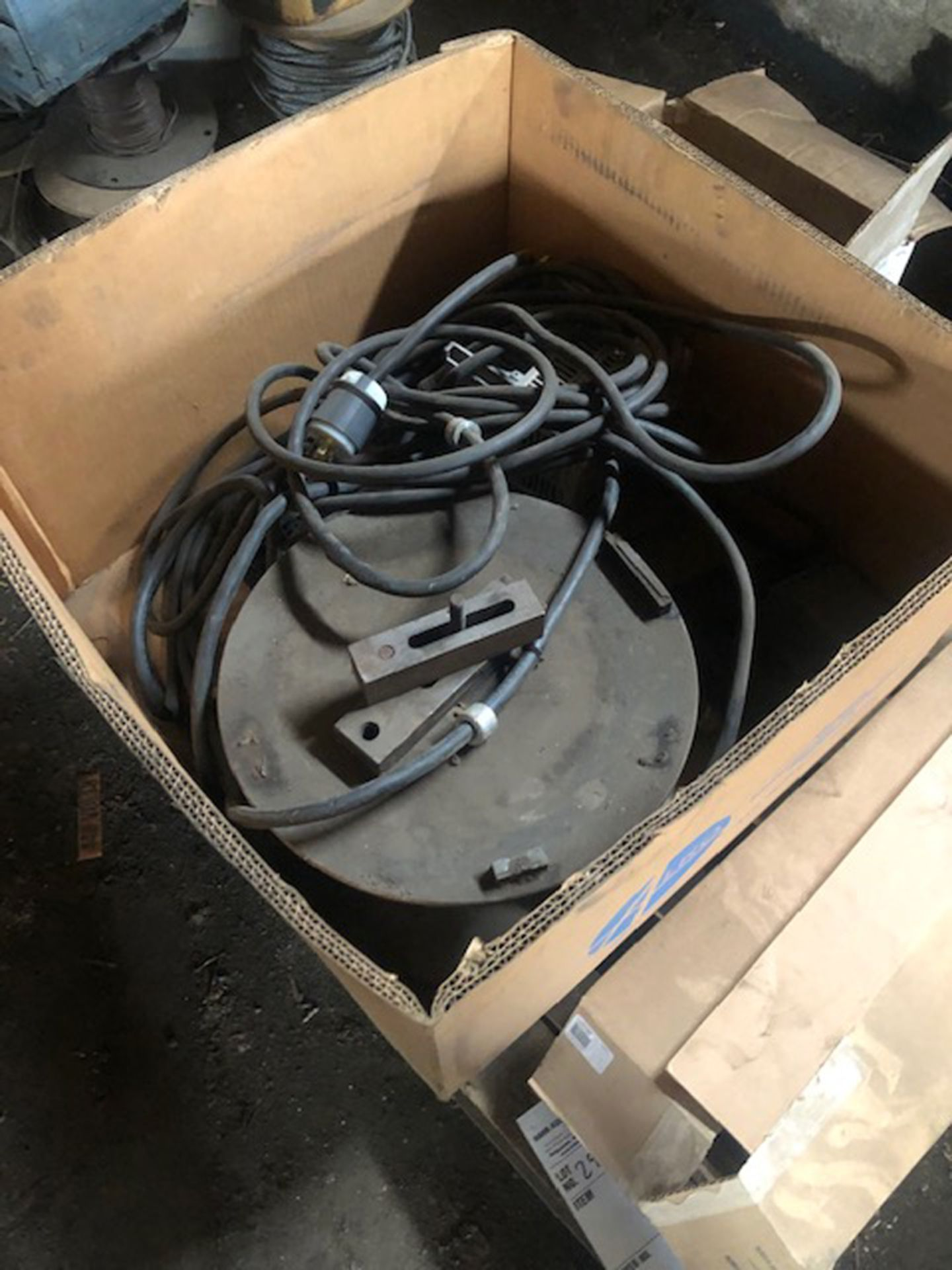 Lot 295 - skid of misc. and rotary table