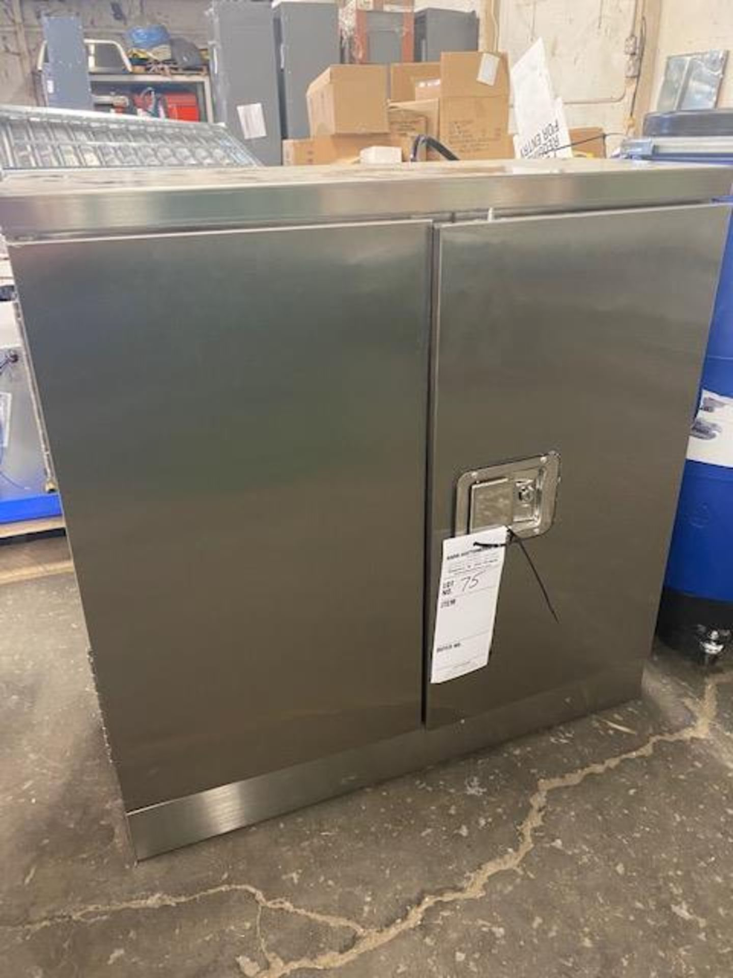 Lot 75 - stainless cabinet