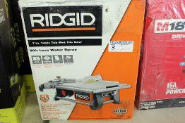 "Rigid 7"" wet tabletop saw"