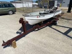12' Starcraft aluminum boat with 6hp outboard Trailer and boat have title