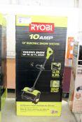 RYOBI 10 amp electric snow shovel