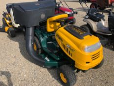 "YARDMAN RIDING LAWN TRACTOR WITH 42"" DECK AND BAGGER,"