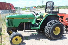 JOHN DEERE 5200 TRACTOR WITH TURF TIRES W/3792 HOURS