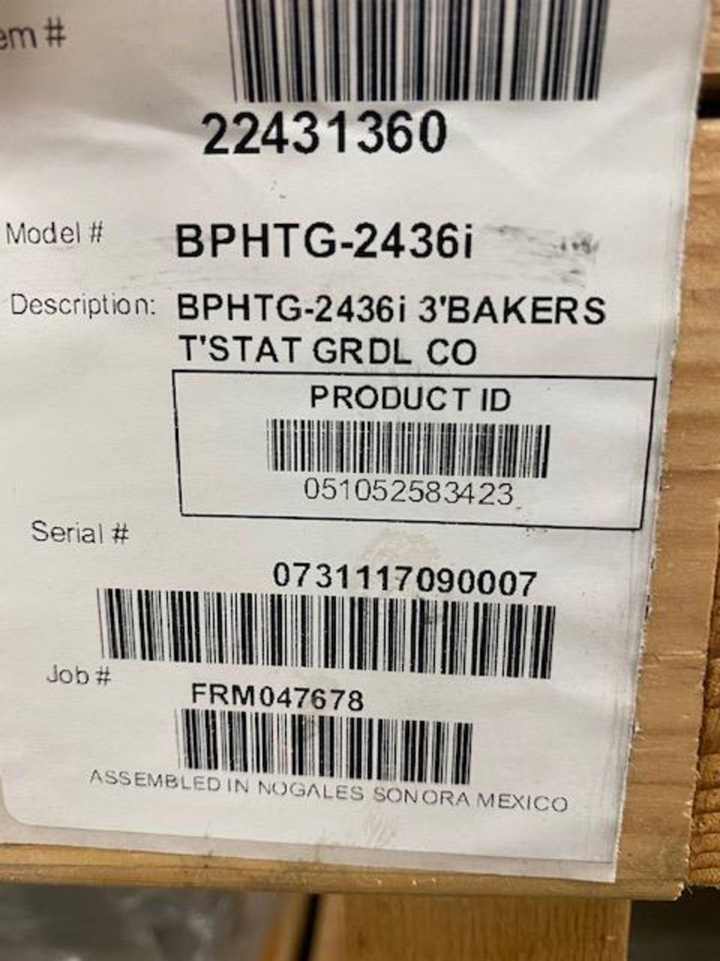 Lot 316 - NEW 3' BAKERS GRIDDLE MODEL BPHTG-2436I