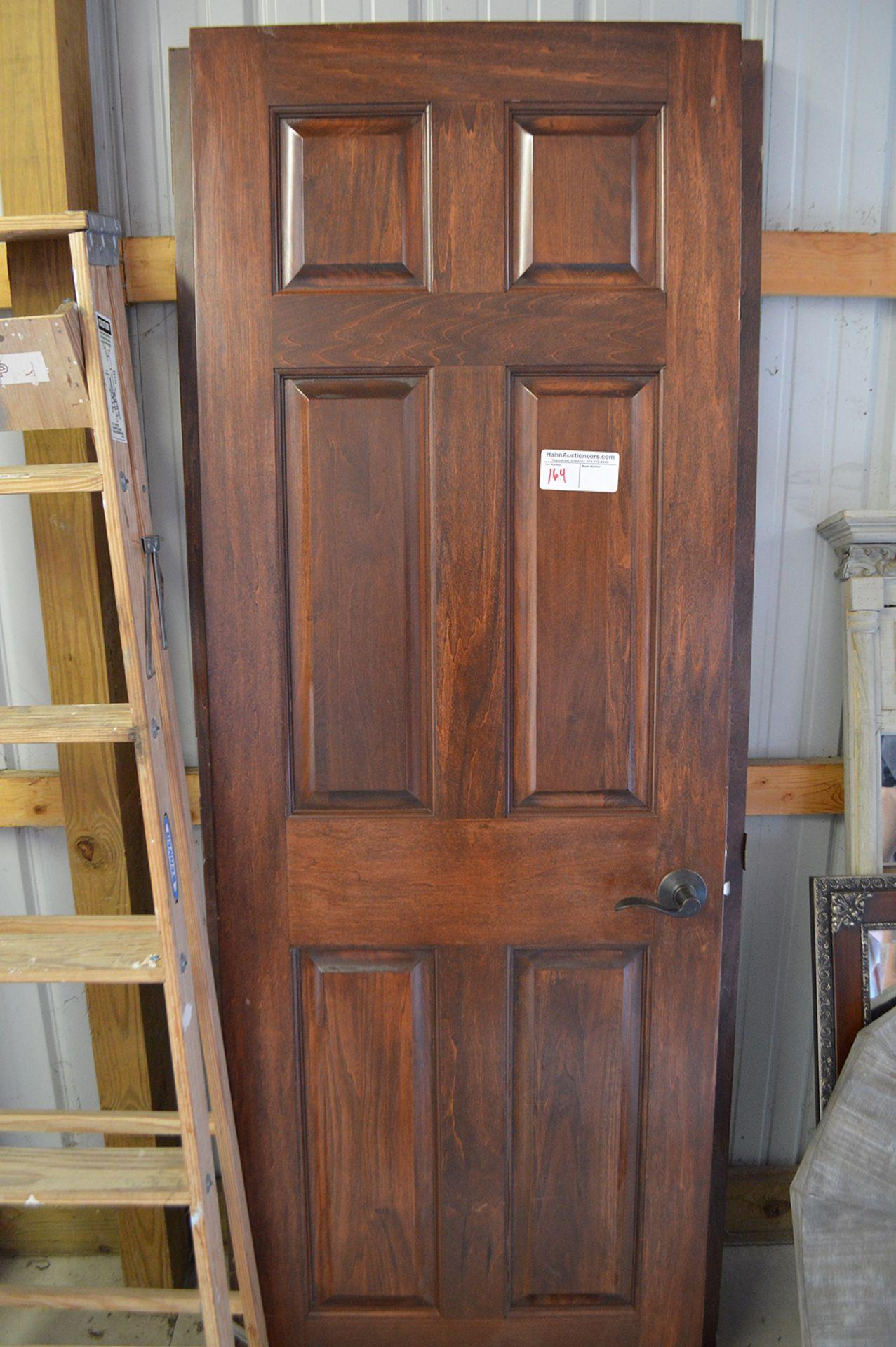 Lot 164 - (2) SOLID CORE INTERIOR DOORS