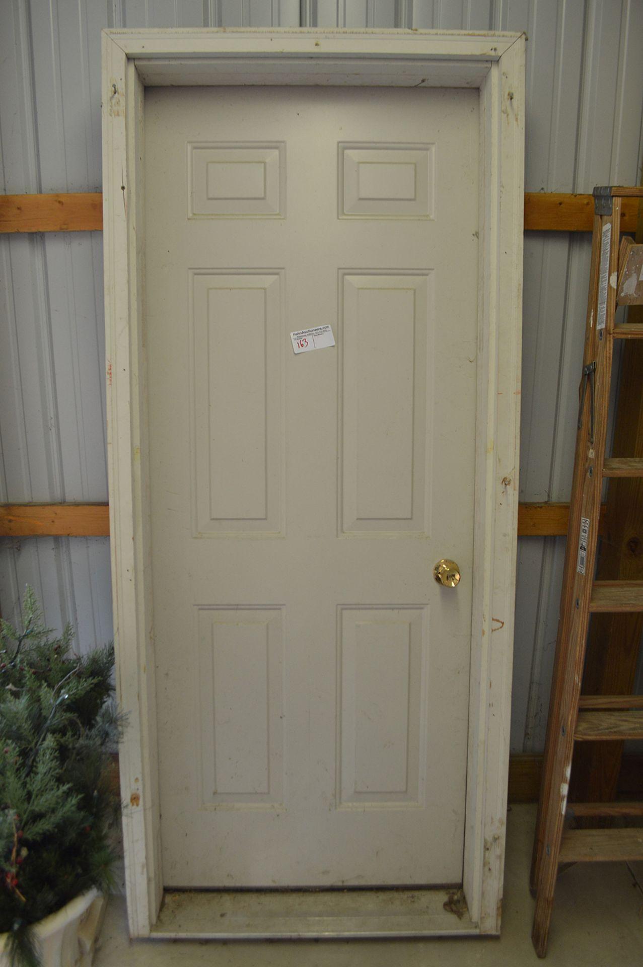 Lot 163 - EXTERIOR DOOR IN FRAME, 28 LEFT HAND