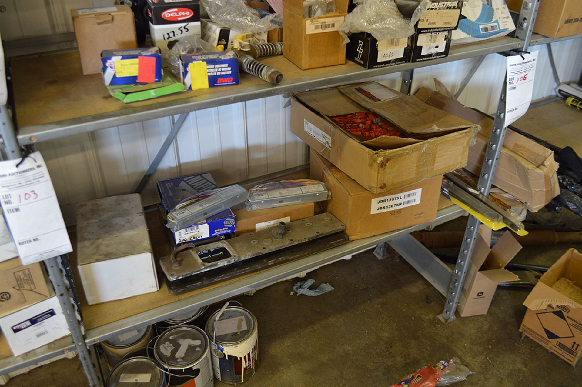Lot 103 - LIGHT BALLASTS AND MISC.