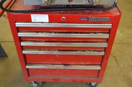 WESTWARD 5 DRAWER ROLLING TOOL BOX AND TOOLS