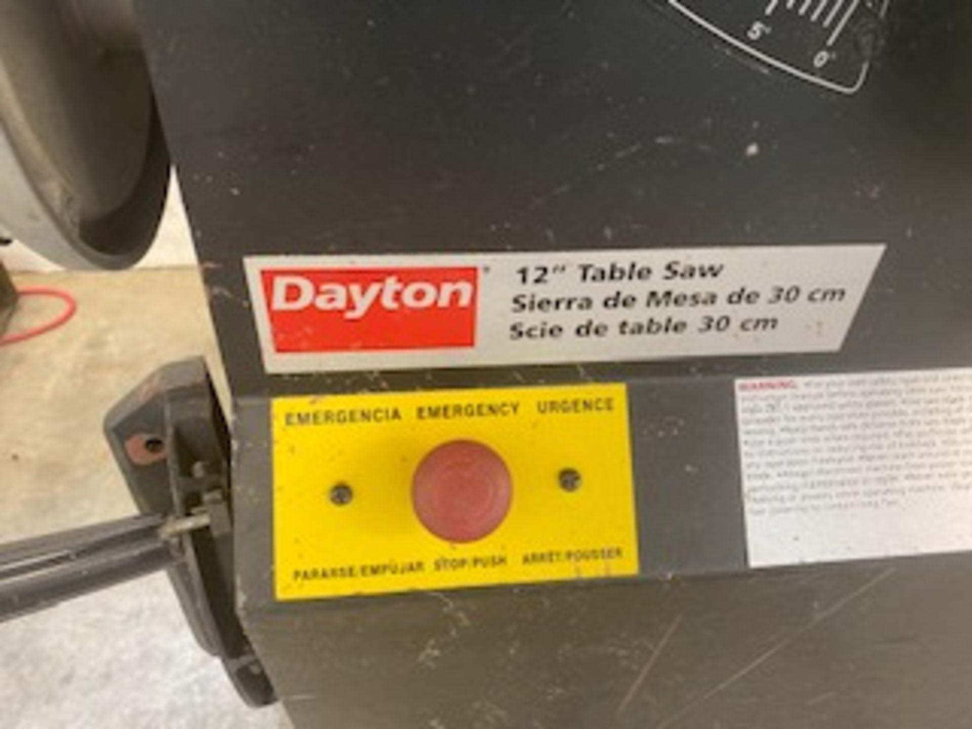 """Lot 327 - DAYTON 12"""" TABLE SAW"""
