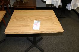"""24""""x30"""" Oak Formica Top Pedestal Table"""