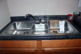 """3 bay stainless sink & cabinet 48"""" must be removed"""