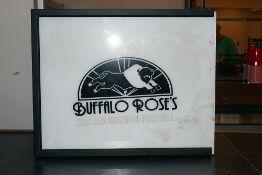"18x22"" Buffalo Roses Pizzaria Sign needs bulbs"