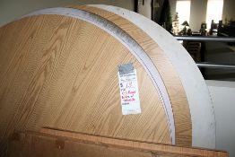 """7- 60"""" Oak Formica Top Pedestal Tables - Pedestals need assembled(1 Lot)5 Pedestals"""