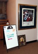 Double side dry erase board and 2 pictures