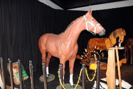 Fiberglass full sized horse complete w/Bridle and blanket