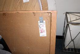 "3 - 36'"" Oak Formica Top Square Pedestal Tables needs assembled"
