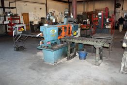 "DoAll Metal Cutting Bandsaw 12""x24"" Capacity, Model # 400M, c/w: Roller Conveyor"