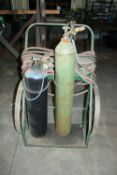 Torch Set includes, Tanks, cart, hose, gauges and regulators