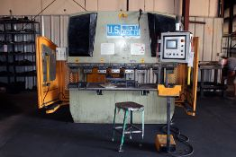 U.S. Industrial Hydraulic Press Brake 6' Width Capacity (2014) Model #US 446
