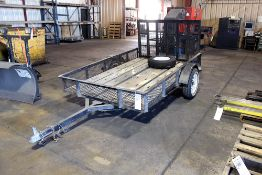 Utility trailer with Ramp