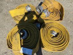 (4) FIRE HOSES
