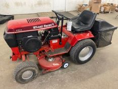 WHEEL HORSE RIDING LAWN MOWER, MODEL 312-A WITH DECK AND BAGGER