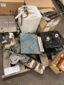 HOT PLATES, PORTABLE HEATER AND OTHER MISC. ITEMS