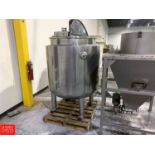 470 ± Gallon Dish-Bottom Jacketed S/S Mix Tank Rigging: $650