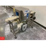 Loma Metal Detector, Model IQ2 with Power Conveyor, Mounted On Casters Rigging: $250