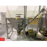 BCH S/S Cone-Bottom Dump Hopper With Inclined Auger Conveyor Rigging: $850