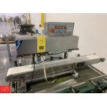 Jores Ink Printing Continuous Sealer, Model DBF-900A, 0-300 Degree C Temp Range, 220 V, 1-12mm/min