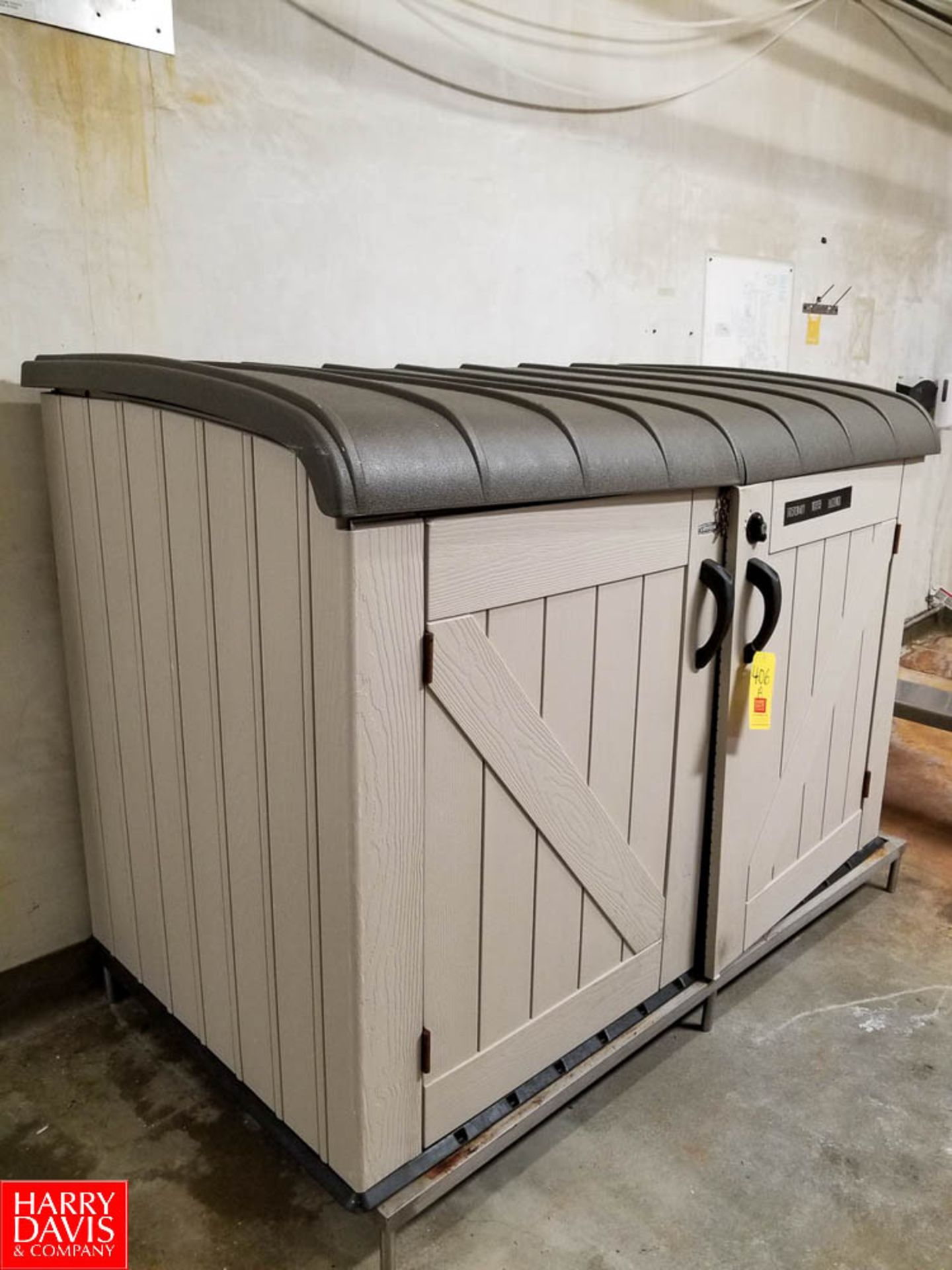Lot 406A - Lifetime Storage Shed - Rigging Fee: $25